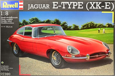 Revell Jaguar E Type XKE 1/8 Scale Model Kit