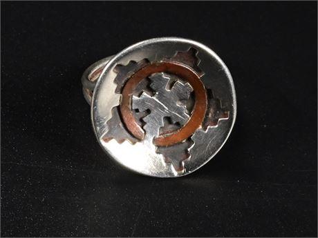 Sterling Navajo Wedding Basket Ring