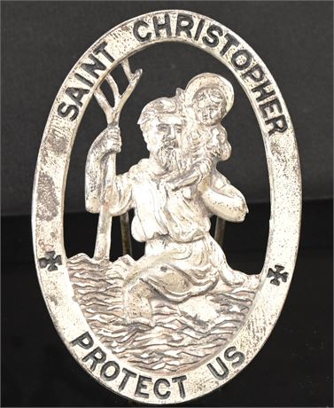 St. Christopher Sterling Silver Traveler's Pin