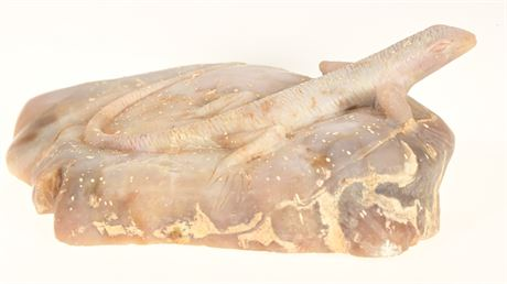 Stone Carved Lizard