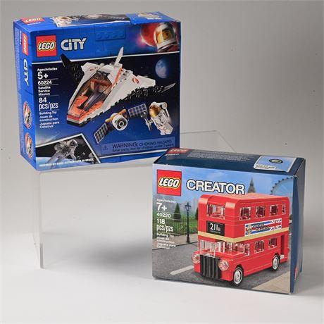 Lego Satellite Service Mission + Double Decker London Bus