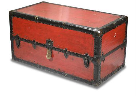 Antique Wardrobe Trunk/Steamer Trunk