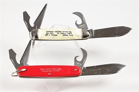 Salesman Samples Pair Imperial Kamp King Pocket Knives