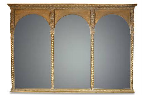 Triptych Gothic Style Mirror