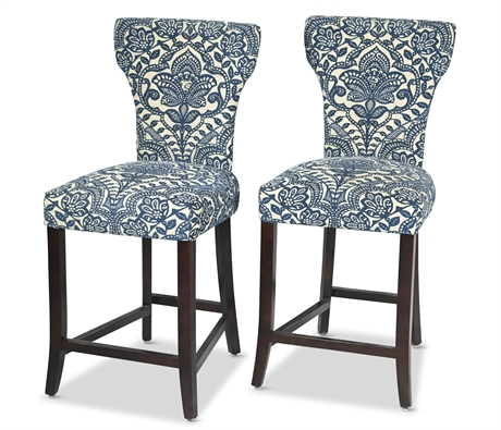 Pair Camilla Blue Damask Pier 1 Imports Chairs