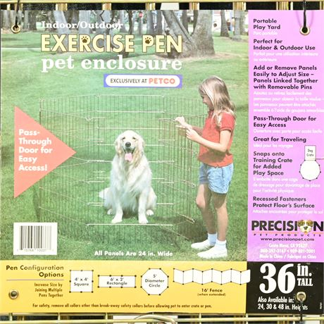 Precision Pet Products Indoor/Outdoor Exercise Pen