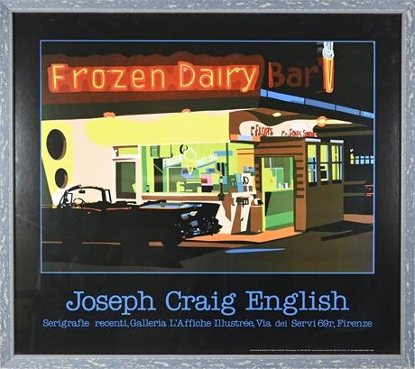 "Joseph Craig English Serigraph ""Frozen Dairy Bar"""