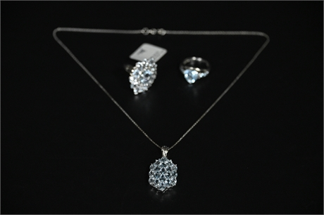 Sterling Silver and Blue Topaz Jewelry
