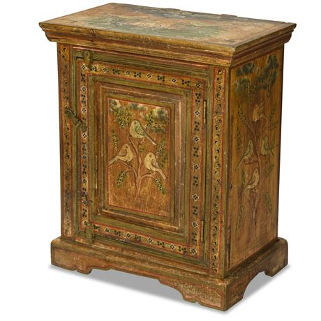 Exotic Hand Painted Cupboard