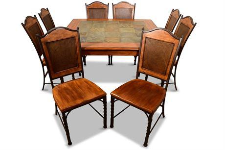 Iron and Wood Dining Set