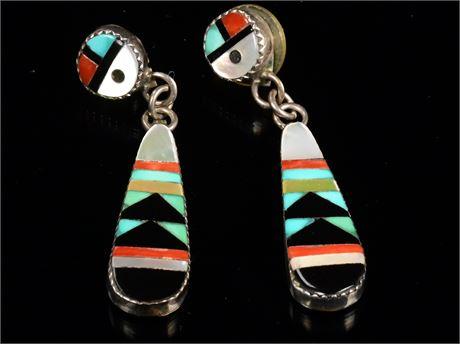 Zuni Sunface Inlay Earrings