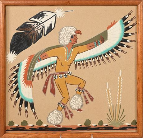 Navajo Wallace Watchman Eagle Dancer Painting